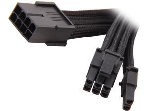 Silverstone PP07-PCIB Sleeved Extension Power Supply Cable, 1 x 8pin to PCI-E 8pin(6+2) Connector