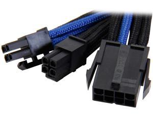 Silverstone PP07-EPS8BA Sleeved Extension Power Supply Cable, 1 x 8pin to EPS12V 8pin(4+4) Connector