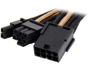 Silverstone PP07-PCIBG Sleeved Extension Power Supply Cable with 1 x 8-Pin to PCI-E 8-Pin Connector