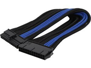 Silverstone PP07-MBBA Motherboard 24pin Connector Sleeved Extension Power Supply Cable