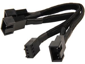 Silverstone All Black Sleeved 1-3 PWM Fan Splitter Cable 100 mm (CPF02)