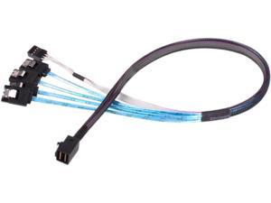 SilverStone SFF-8643 to SATA7-Pin with Sideband Mini SAS HD Cable (CPS05)