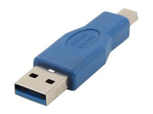 SYBA SY-ADA20085 USB 3.0 Type A Male to Mini USB Adapter, Blue Color