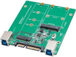 SYBA SY-ADA50087 USB 3.1 or SATA III to M.2/mSATA SSD Adapter