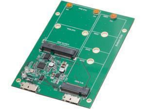 SYBA SY-ADA50088 USB3.1 to M.2/mSATA SSD Adapter