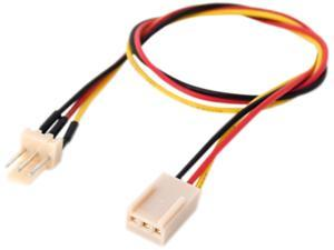 """Link Depot POW-12-EXT 12"""" Power Supply 3 Pin Fan Extension Cable Female to Male"""