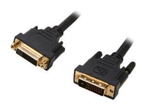 Link Depot DVI-10-DD-MF Black DVI-D male to DVI-D female Cable, Black