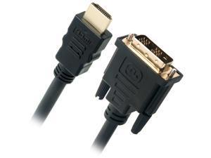 Omni Gear DVI-3-HDMI 10 ft. Black HDMI to DVI Cable, Black Male to Male