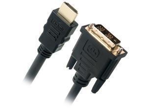 Omni Gear DVI-1-HDMI 3 ft. Black DVI to HDMI Cable Male to Male