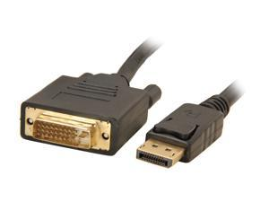 Link Depot DP-6-DVI 6 ft. DisplayPort to DVI Cable
