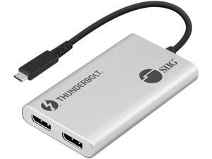 SIIG JU-TB0611-S1 Thunderbolt 3 to Dual DP 1.2 Adapter
