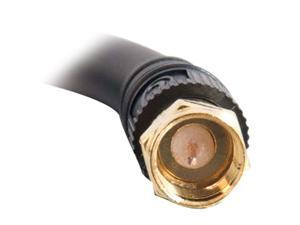 C2G 29131 Value Series F-Type RG6 Coaxial Video Cable, Black (3 Feet, 0.91 Meters)