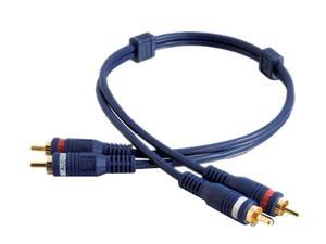 C2G 13032 Velocity RCA Stereo Audio Cable, Blue (3 Feet, 0.91 Meters)
