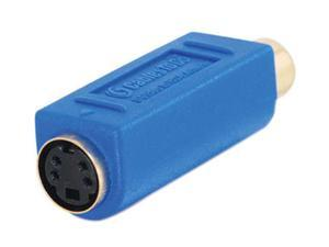 C2G 13043 Bi-Directional S-Video Female to RCA Female Video Adapter, Blue