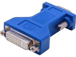 C2G 26957 DVI Female to VGA (HD15) Male Video Adapter, Blue