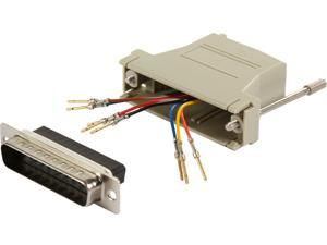 C2G 02934 RJ45 to DB25 Male Modular Adapter, Gray