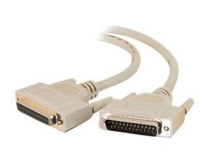 C2G 06100 IEEE-1284 DB25 M/F Parallel Printer Extension Cable, Beige (10 Feet, 3.04 Meters)