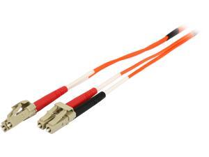 C2G 33174 OM1 Fiber Optic Cable - LC-LC 62.5/125 Duplex Multimode PVC Fiber Cable, Orange (9.8 Feet, 3 Meters)