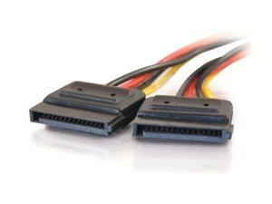 C2G 10155 6 in. Serial ATA Dual Power Splitter Cable Male to Female