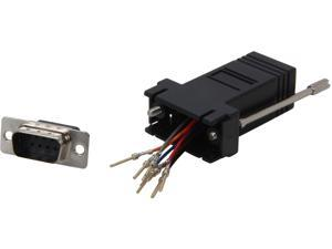C2G 02947 RJ45 to DB9 Male Serial RS232 Modular Adapter, Black