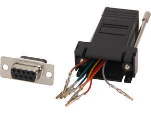 C2G 02943 RJ45 to DB9 Female Serial RS232 Modular Adapter, Black