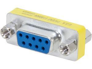 C2G 02781 DB9 F/F Serial RS232 Mini Gender Changer/Coupler, Nickel