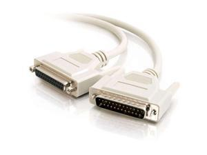 C2G 02660 DB25 M/F Serial RS232 Extension Cable, Beige (25 Feet, 7.62 Meters)
