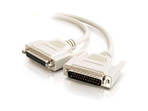 C2G 02654 DB25 M/F Serial RS232 Extension Cable, Beige (3 Feet, 0.91 Meters)