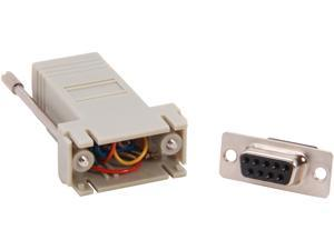 C2G 02941 RJ45 to DB9 Female Serial RS232 Modular Adapter, Gray