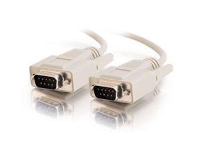C2G 09451 DB9 M/M Serial RS232 Cable, Beige (25 Feet, 7.62 Meters)
