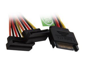 Athena Power CABLE-YSATA290 6 in. SATA II Y cable