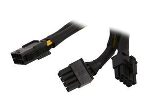 Athena Power CABLE-YEPS828 6 in. EPS-12V 8-pin Y-splitter Power Cable