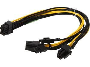 Athena Power Cable-EPS8PCIE6282 10 in. Cable Male to Male
