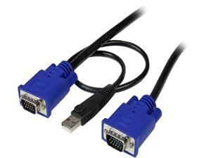 StarTech.com 15ft. Ultra-Thin USB 3-in-1 KVM Cable SVECONUS15