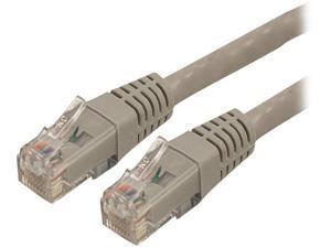 StarTech.com C6PATCH6GR 6 ft. (1.83 m) Cat 6 Gray Molded UTP Patch Cable - ETL Verified