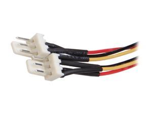 "StarTech TX3SPLIT12 12"" TX3 Fan Power Splitter Cable Female to Male"