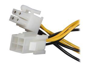 StarTech.com ATXP4EXT 8 in. 8in ATX12V 4 Pin P4 CPU Power Extension Cable Female to Male