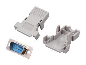 StarTech.com C9PSM Assembled DB9 Male Solder D-SUB Connector with Plastic Backshell