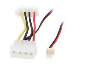 StarTech.com CPUFANADAPT 6.1 in. 6in Fan Adapter - TX3 to 2x LP4 Power Y Splitter Cable