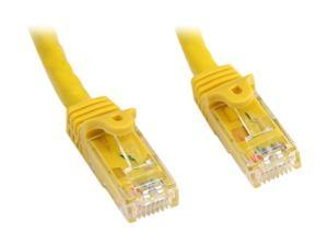 StarTech.com N6PATCH75YL 75 ft. Cat 6 Yellow Snagless UTP Patch Cable - ETL Verified
