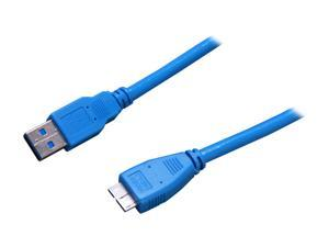 StarTech.com USB3SAUB1 Blue SuperSpeed USB 3.0 Cable A to Micro B