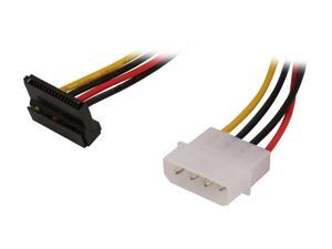 StarTech.com SATAPOWADAPR 6 in. 4 Pin Molex to Right Angle SATA Power Cable Adapter