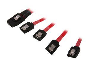StarTech.com SAS8087S450 50cm Serial Attached SCSI SAS Cable - SFF-8087 Plug to 4x Latching SATA (female) - Mini SAS to SATA Cable