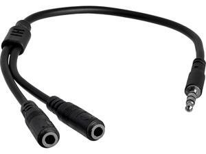 StarTech.com MUYHSMFF Headset adapter for headsets with separate headphone / microphone plugs - 3.5mm 4 position to 2x 3 position 3.5mm M/F