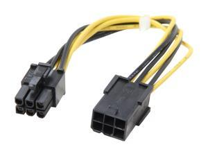 StarTech.com PCIEPOWEXT 8 in. 6 pin PCI Express Power Extension Cable Female to Male