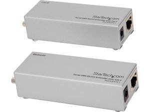StarTech.com RS232EXTC1 Serial DB9 RS232 Extender over Cat 5 - Up to 3300 ft