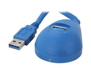 StarTech.com USB3SEXT5DSK Blue Desktop SuperSpeed USB 3.0 Extension Cable - A to A M/F