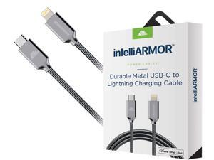 intelliArmor IC-CPVC LynkCable Metal Gray USB Type-C to Lighting Cable