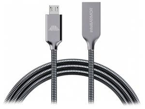 intelliArmor IC-CBSG Metal Gray LynkCable - MicroUSB Cable