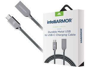 intelliArmor IC-CBSG10 Gray LynkCable USB A to USB C